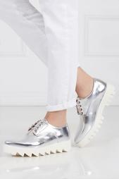 Ботинки из металлизированной кожи Nina Swear