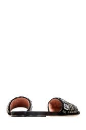 Сандалии из кожи и шелка с кристаллами Rochas