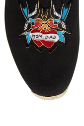 Хлопковые эспадрильи Mom and Dad Flat Olona Fabric Christian Louboutin