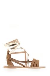 Сандалии из замши и металлизированной кожи Satira Ancient Greek Sandals