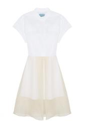 Платье из шелка и хлопка MoS