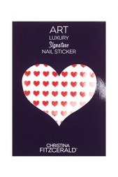 Арт-стикеры для ногтей Art Luxury Signature Nail Sticker «Red Heart», 96 шт. Christina Fitzgerald