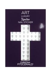 Арт-стикеры для ногтей Art Luxury Signature Nail Sticker «Gray Cross», 96 шт. Christina Fitzgerald
