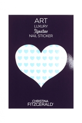 Арт-стикеры для ногтей Art Luxury Signature Nail Sticker «Blue Heart», 96 шт. Christina Fitzgerald