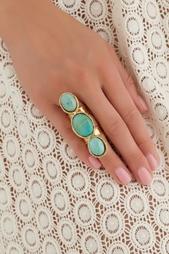 Кольцо из латуни с бирюзой Sylvia Toledano