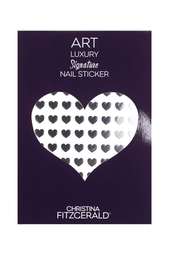 Арт-стикеры для ногтей Art Luxury Signature Nail Sticker «Black Heart», 96 шт. Christina Fitzgerald