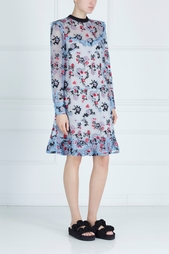 Шелковое платье с вышивкой Nicky Erdem