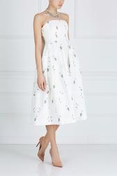 Хлопковое платье-бюстье Alina Erdem