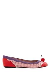 Кожаные балетки Boutique Moschino