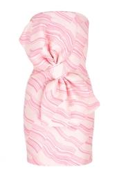 Хлопковое платье-бюстье Boutique Moschino