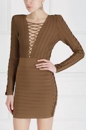 Однотонное платье Balmain