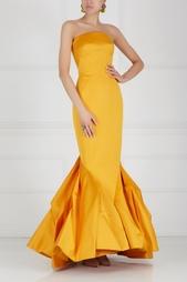 Платье-бюстье в пол Zac Posen