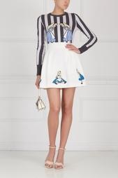 Хлопковая юбка с вышивкой Olympia Le Tan