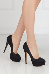 Черные Туфли из кожи и кружева Gothic Immodesty Charlotte Olympia