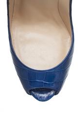 Туфли из кожи аллигатора Lady Peep 150 Christian Louboutin