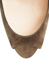 Золотистые Замшевые туфли Palais Royal Trepointe 140 Christian Louboutin