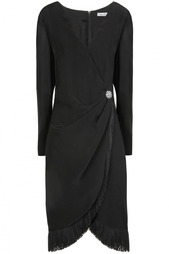Платье с запахом и бахромой (80-е) Guy Laroche Vintage