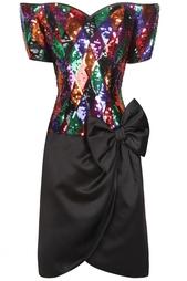 Платье с вышивкой пайетками (80-е гг.) Lillie Rubin Vintage