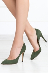 Замшевые туфли Vamp Charlotte Olympia