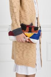 Льняной клатч с вышивкой The Row