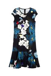 Платье с принтом Erdem