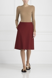 Шерстяная юбка Jil Sander Navy