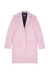 Шерстяное пальто Msgm