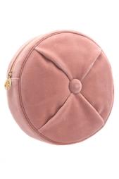 Вельветовый клатч Round Cushion Pouch Charlotte Olympia