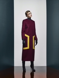 Шерстяное пальто A LA Russe