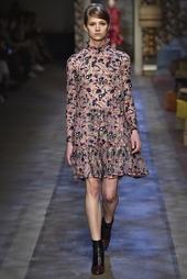 Шелковое платье с принтом Cosima Erdem