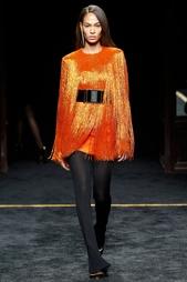 Платье с бахромой Balmain