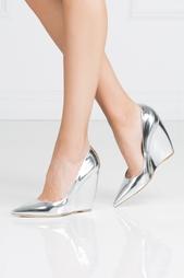 Туфли из металлизированной кожи Nicholas Kirkwood