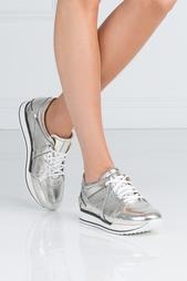 Кроссовки из лакированной кожи London Jimmy Choo