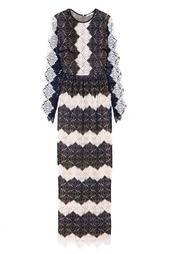 Кружевное платье в пол Erdem