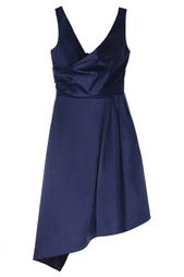 Платье из хлопка и шелка Carven