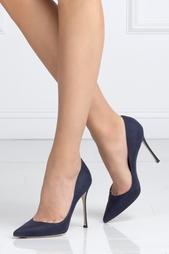 Голубые Замшевые туфли Sergio Rossi