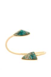 Позолоченный браслет из латуни с хризоколлами Lizzie Fortunato