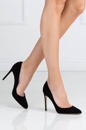 Черные Замшевые туфли Sergio Rossi