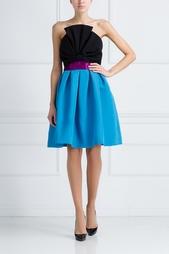 Шелковое платье-бюстье Oscar de la Renta