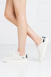 Кожаные кроссовки Stan Smith Metal Adidas