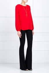 Шелковая блузка Marnie Diane von Furstenberg