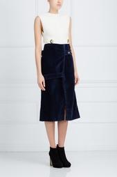 Хлопковая юбка Victoria Beckham