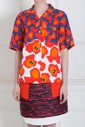Хлопковая рубашка Jil Sander Navy
