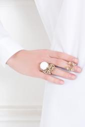 Бронзовое кольцо с агатом Bernard Delettrez