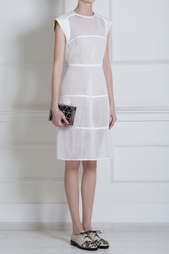 Платье из перфорированной ткани Jil Sander Navy