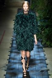 Пальто из шелка и гусиных перьев Erdem