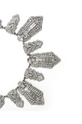 Посеребренное колье с кристаллами Swarovski Ben Amun