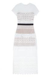 Платье Oblique lace column Self Portrait