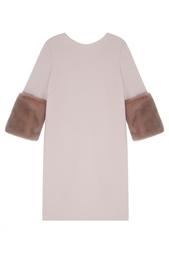 Платье с меховой отделкой Natalia Gart