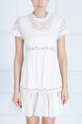Шелковое платье с кружевом Giambattista Valli